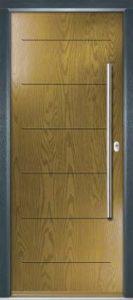 Door - Irish Oak Frame - Anthracite Grey